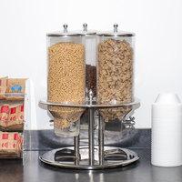 Tablecraft 693 Stainless Steel 27 Liter Triple Cereal Dispenser