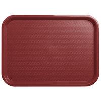 Carlisle CT121661 Cafe 12 inch x 16 inch Burgundy Standard Plastic Fast Food Tray