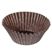 1 7/8 inch x 1 5/16 inch Glassine Baking/Candy Cups - 1000/Pack