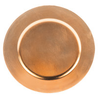Tabletop Classics TRC-6651 13 inch Copper Round Polypropylene Charger Plate