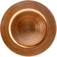 Tabletop Classics by Walco TRC-6651 13 inch Copper Round Plastic Charger Plate