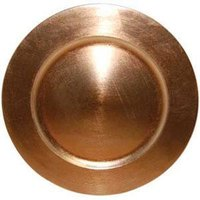 Tabletop Classics TRC-6651 13 inch Copper Round Acrylic Charger Plate