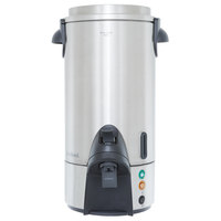 West Bend 54100 100 Cup Stainless Steel Coffee Urn - 1500W