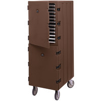 Cambro 1826DTC131 Camcart Dark Brown Double Compartment Tray and Sheet Pan Carrier