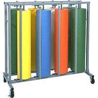 Bulman R999 36 inch Vertical 8 Roll Paper Rack