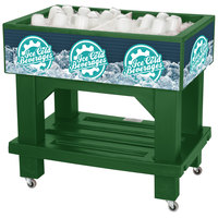 IRP Green Texas Icer Jr. 2020 Insulated Ice Bin / Merchandiser with Shelf and Drain 36 inch x 24 inch 88 Qt.