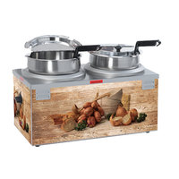 Nemco 6510A-2D7P Double Well 7 Qt. Soup Warmer - 120V, 1100W