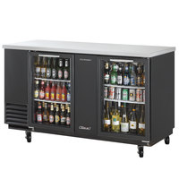 Turbo Air TBB-3SG 69 inch Two Glass Door Back Bar Refrigerator
