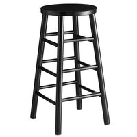 Lancaster Table & Seating Spartan Series 30 inch Black Metal Barstool