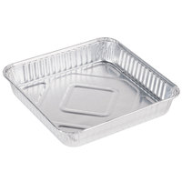 Durable Packaging 1155-35 8 inch Square Foil Cake Pan - 25 / Pack