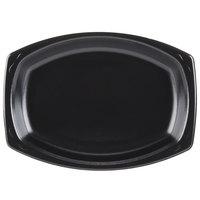 Genpak LAM79-3L Elite 9 inch x 7 inch Black Laminated Foam Platter - 125 / Pack
