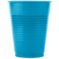 Creative Converting 28313181 16 oz. Turquoise Plastic Cup - 240/Case