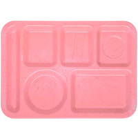 Carlisle 4398100 Heavy Weight Melamine Variegated Left Hand 6 Compartment Tray - 10 inch x 14 inch
