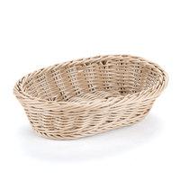 GET WB-1503-H 9 inch x 6 3/4 inch x 2 1/2 inch Designer Polyweave Honey Oval Basket - 12/Case
