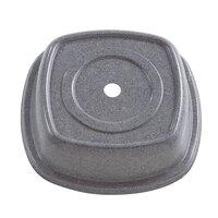 Cambro 99SMVS191 Granite Gray Versa Camcover 9 inch Square Plate Cover 12/Case