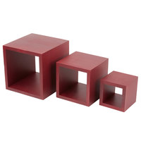 American Metalcraft RSM2 Set of Three Mahogany Wood Riser