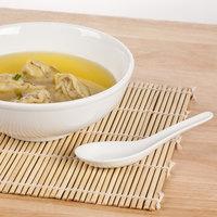 Core 0.6 oz. Ceramic Chinese Soup Spoon / Asian Wonton Soup Spoon   - 12/Pack