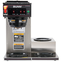 Bunn 12950.0212 CWTF15-3 12 Cup Automatic Coffee Brewer with 3 Lower Warmers and Hot Water Faucet - 120V