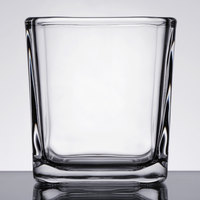 Libbey 5474 7.5 oz. Cube Votive Holder / Condiment Jar - 12/Case
