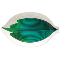 GET 033-26-CO 10 1/2 inch Contemporary Melamine Leaf Plate - 12/Pack