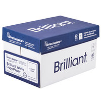 8 1/2 inch x 11 inch Bright White Copier Paper - 5000/Case