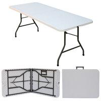 Correll CP3072FM 30 inch x 72 inch Granite Gray Plastic Fold in Half Table