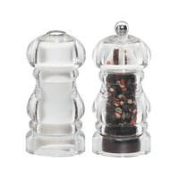 Chef Specialties 29190 Professional Series 5 inch Laurel Acrylic Pepper Mill / Salt Shaker