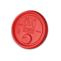 GET LID-88121-R Disposable Red Plastic Lid with Straw Slot for 3 inch Diameter Tumblers 2000 / Case