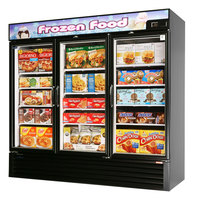 Turbo Air TGF-72FB Black 82 inch Glass Door Merchandising Freezer