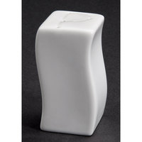 CAC SOH-PS Soho 3 inch American White Stoneware Pepper Shaker - 48 / Case
