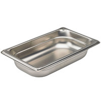 Vollrath 90452 Super Pan 3® 1/4 Size Anti-Jam Stainless Steel Steam Table Pan - 2 inch Deep