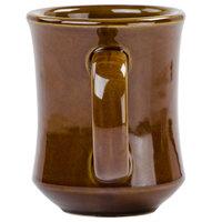Brown Bell Shaped 7 oz. China Coffee Mug - 12/Pack