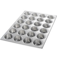 Chicago Metallic 46525 24 Cup Glazed Customizable Muffin Pan - 14 1/8 inch x 20 3/4 inch