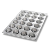 Chicago Metallic 46525 24 Cup Glazed Muffin Pan - 14 1/8 inch x 20 3/4 inch