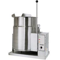 Cleveland KGT-6-T Liquid Propane 6 Gallon Tilting 2/3 Steam Jacketed Tabletop Kettle - 34,000 BTU