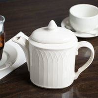 Homer Laughlin 3267000 Gothic 23 oz. Ivory (American White) Undecorated China Beverage Server - 12/Case