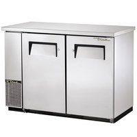 True TBB-24-48FR-S 49 inch Stainless Steel Narrow Food Rated Back Bar Refrigerator with Two Solid Doors