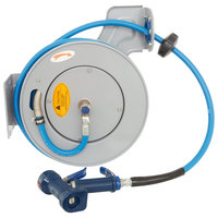 T&S B-7232-05 35' Open Epoxy Coated Steel Hose Reel with Front Trigger Water Gun