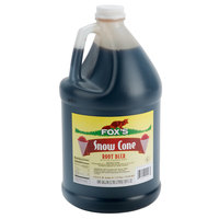 Fox's 1 Gallon Root Beer Snow Cone Syrup - 4/Case