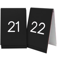 Cal-Mil 271-2 Black Customizable Replacement Engraved Number Tent Sign - 3 1/2 inch x 5 inch