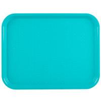 Vollrath 86109 10 inch x 14 inch Teal Plastic Fast Food Tray - 24/Case