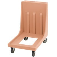 Cambro Camdolly CD1826MTC157 Coffee Beige Dolly for 1826MTC Camcarrier Tray / Sheet Pan Carrier