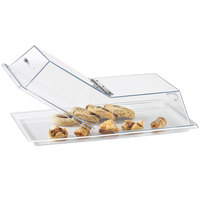 Cal-Mil 328-13 Clear Standard Rectangular Bakery Tray Cover with Center Hinge - 13 inch x 18 inch x 4 inch