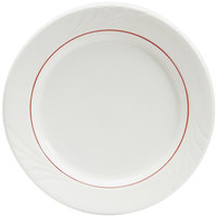 Tuxton YBA-062 Monterey 6 1/4 inch China Plate with Berry Band   - 36/Case