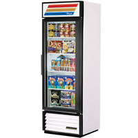 True GDM-19T-F-LD White Glass Door Merchandiser Freezer with LED Lighting - 19 Cu. Ft.