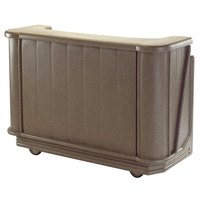 Cambro BAR650194 Granite Sand Cambar 67 inch Portable Bar with 7-Bottle Speed Rail