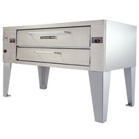 Bakers Pride Y-600BL Super Deck Y Series Natural Gas Brick Lined Single Deck Pizza Oven 60 inch - 120,000 BTU