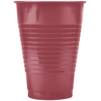 Creative Converting 28312271 12 oz. Burgundy Plastic Cup - 240/Case