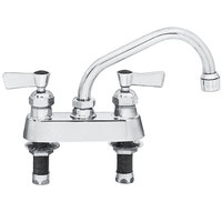 Fisher 3513 Deck-Mounted Swivel Faucet with 4 inch Centers - 12 inch Spout