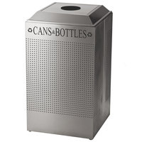 Rubbermaid FGDCR24CSS Silhouettes Stainless Steel 29 Gallon Recycling Receptacle for Cans / Bottles